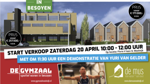 Start Verkoop Gymzaal & De Mus 20 april